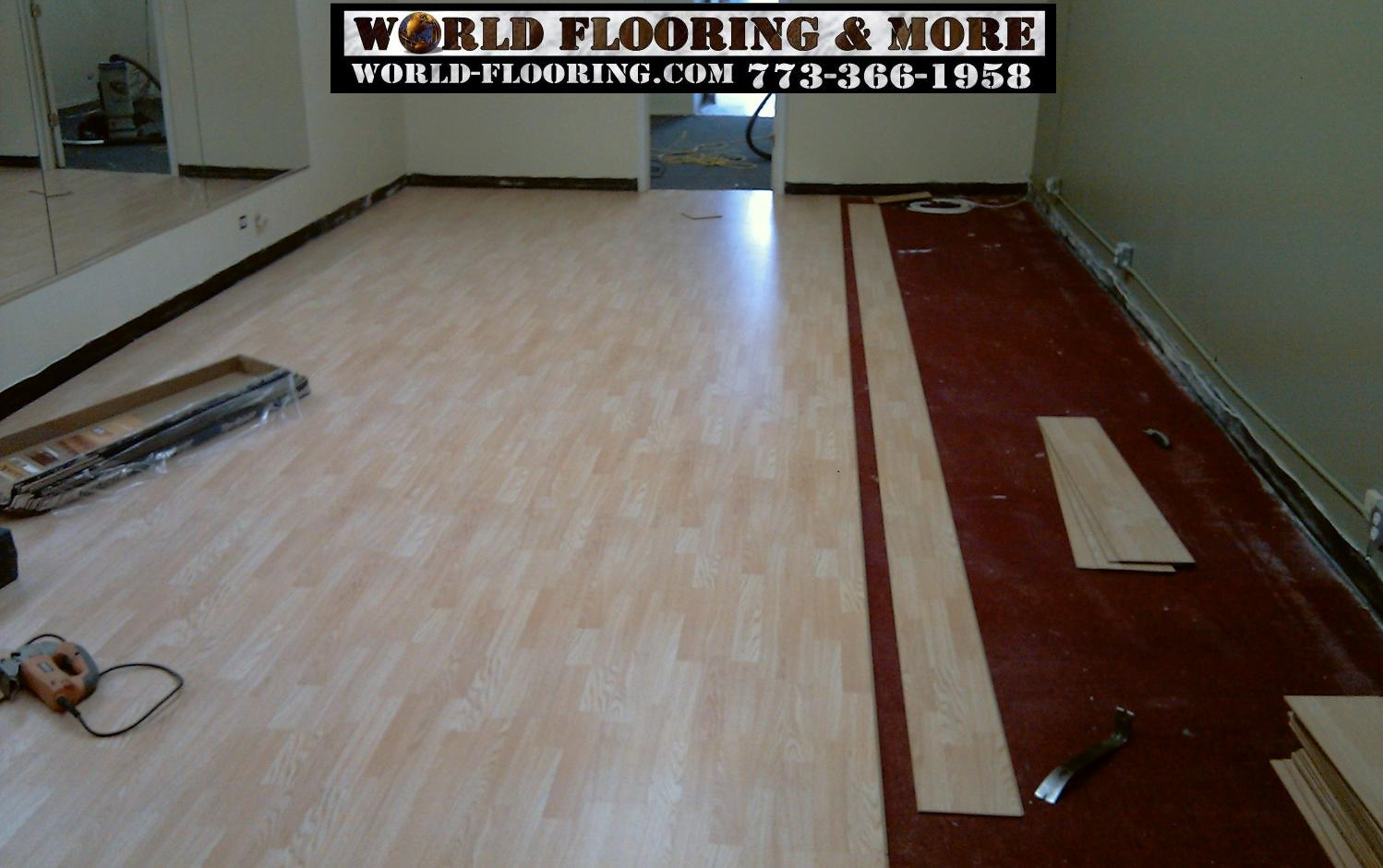 Laminate Flooring Installation Pre Finished Floor World More 773 366 1958