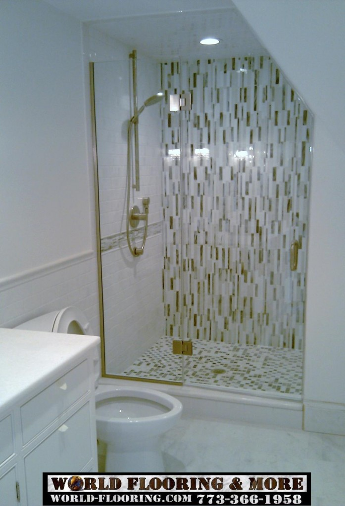Mosaic tile shower by World Flooring & More 773-366-1958 Chicago Suburbs (4)
