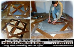 How to make and install a hardwood flooring medallion inlay Free Estimates Chicago and Soburbs