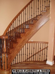 Before after stair stairs staircase construct repair 773-366-1958 World Flooring & More (2)
