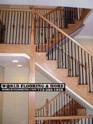 Before after stair stairs staircase construct repair 773-366-1958 World Flooring & More (4)