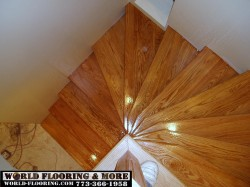 Hardwood Stairs  design remodeling installation construction repair curved flared spiral winder World Flooring & More 773-366-1958