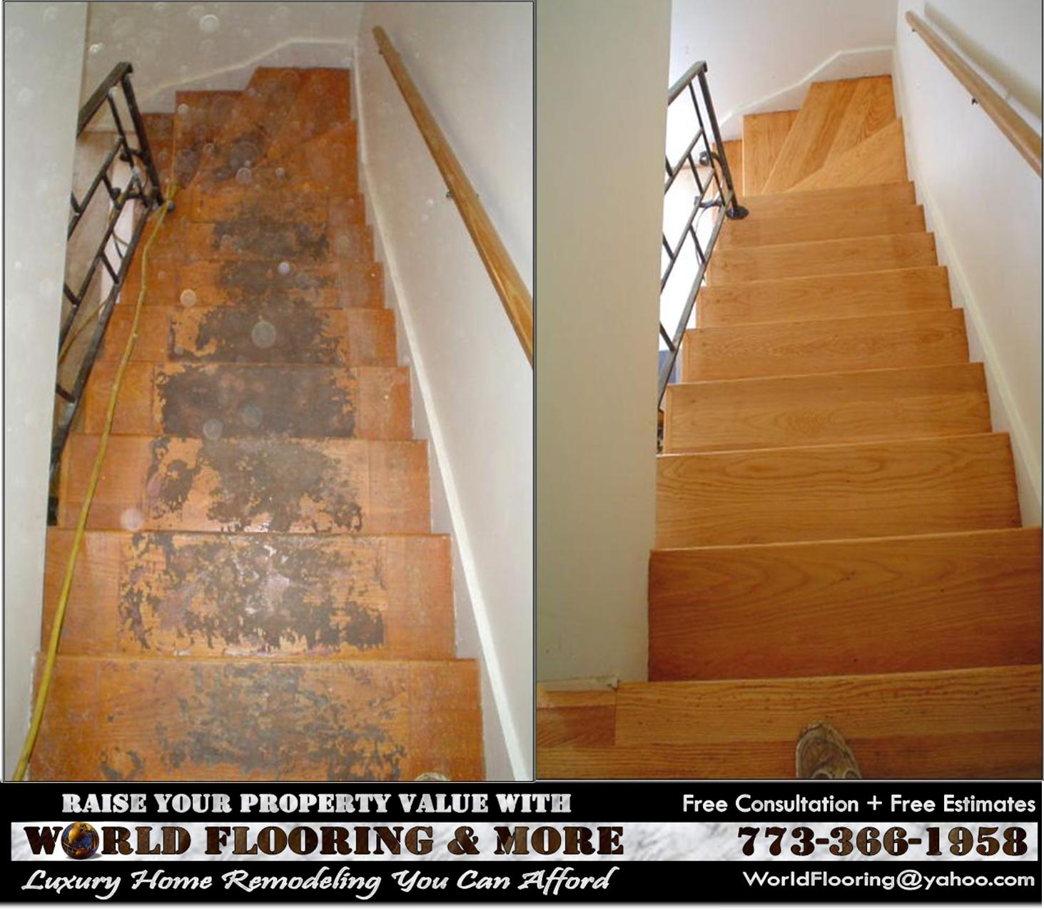 Repair Stairs Steps Staircase Hardwood Hard Wood 773 366 1958 World  Flooring U0026 More