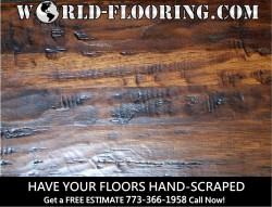 Hand scraped flooring free estimates in Chicago and Suburbs within 75 miles.