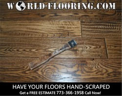 Custom made and installed handscraped, hand sculpted, rustic or distressed wood flooring in Chicago