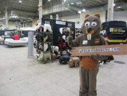 Beaver mascot at the Ideal Home Show Chicago