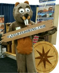 beaver mascot during The Ideal Home Show Chicago