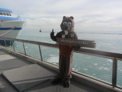 mascot in Navy Pier Chicago