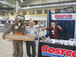 Costco friends with beaver mascot