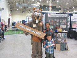 Boys with the World Flooring beaver mascot