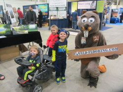 Kids love the flooring beaver mascot
